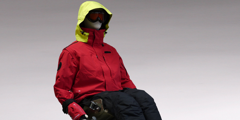 UTY clothes, specially designed for disabled skiers
