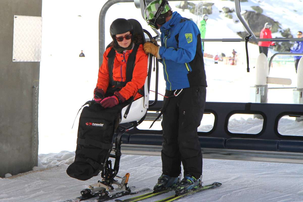 Loading on chairlift with Tempo Duo Tessier