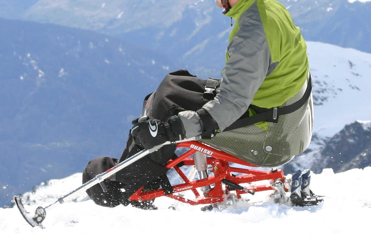 Fournales shock absorber on TESSIER sit ski