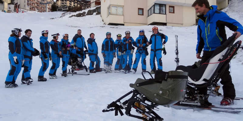 Training for the use of Tessier sitski equipment