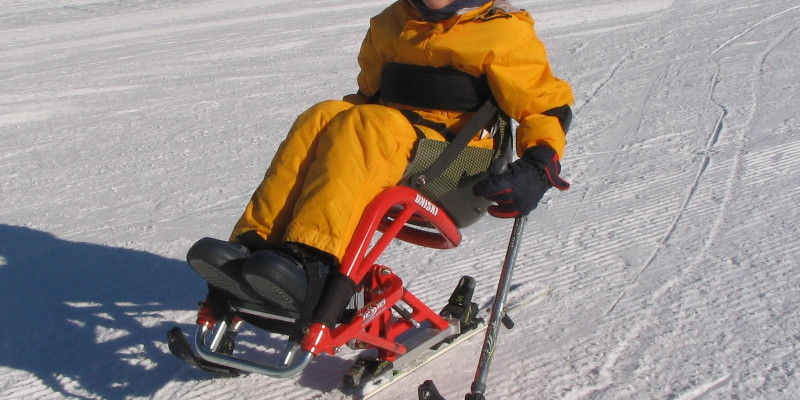Tessier sitskiing equipment for kids