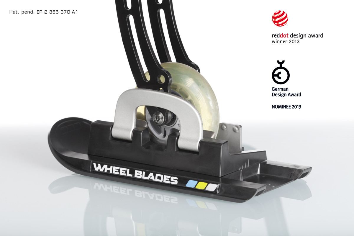 Wheelblades ski for wheelchair