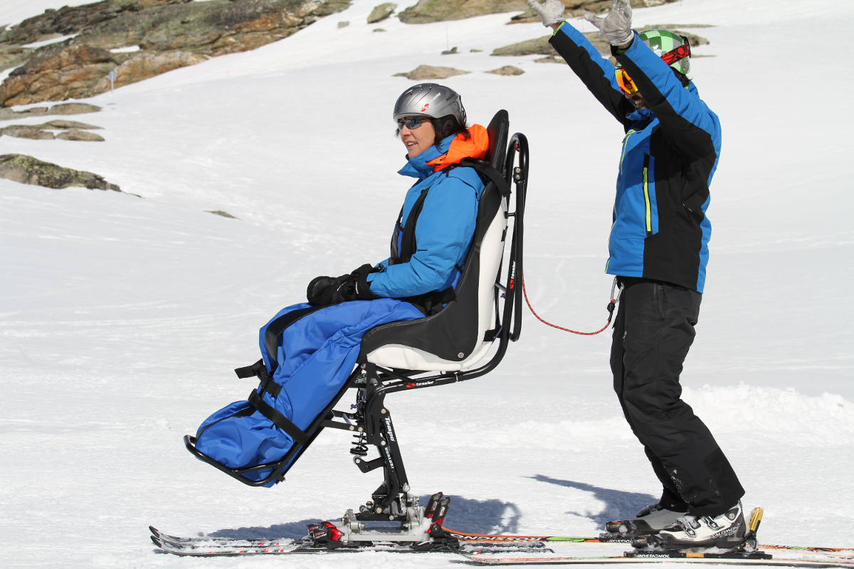 Tempo Duo locking system in high position to take the chairlift