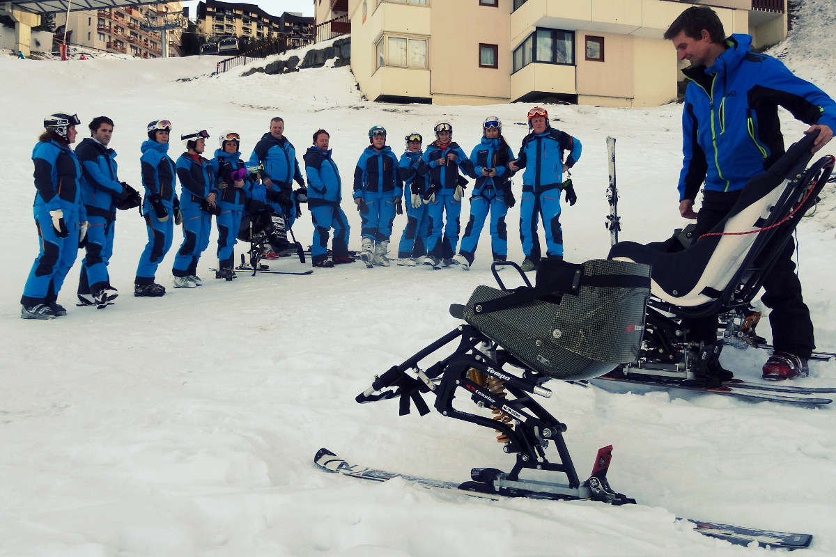 Adaptive ski instructor training