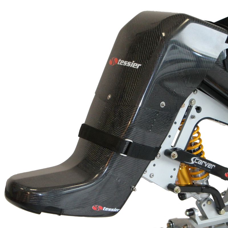 Carbon Racing foot fairing for Tessier sitski