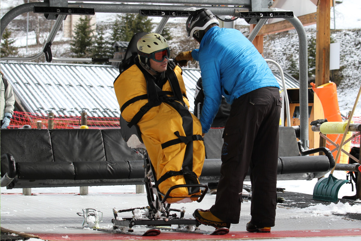 Ease of chairlift use with Tandem'Flex Tessier