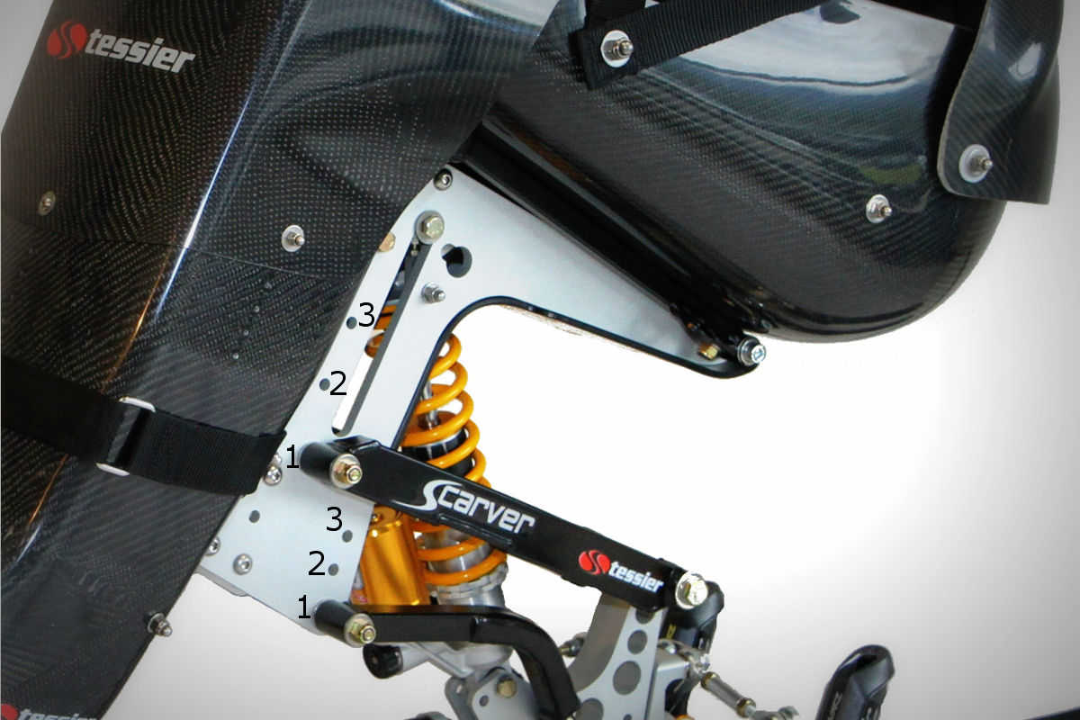 adjustable suspension with the Scarver TESSIER
